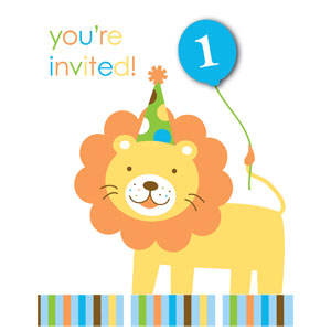 Sweet at One Invitations Boy- 8ct