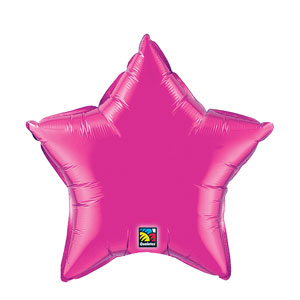 20 Inch Star Metallic Balloon- Magenta
