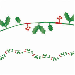 Holiday Hollies Wire Garland- 12ft