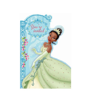 Disney Princess and The Frog Invitations- 8ct