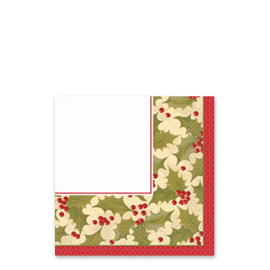 Winter Holly Beverage Napkins