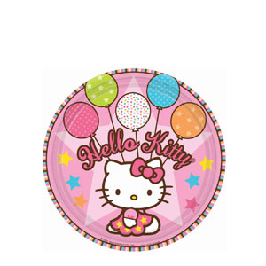 Hello Kitty Balloon Dreams 7 Inch Plates- 8ct