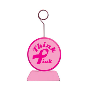 Pink Ribbon Balloon Weight - 6oz