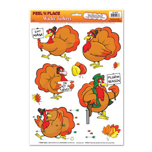 Wacky Turkeys Peel n Place