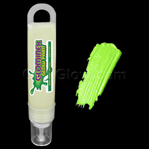 Glominex Glow Paint 1 oz Tube - Invisible Day Green