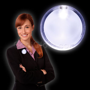 LED Badge - White