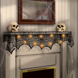 Mantle Scarf with LED Lights- 96in