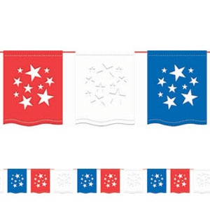 Red White Blue Flag Banner - 12ft