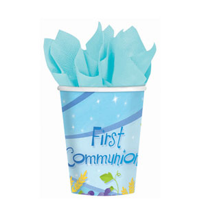 First Communion Blue 9 oz. Cups- 18ct