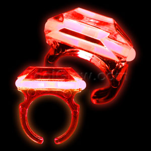 Fun Central M963 Glow in the Dark Ring - Red