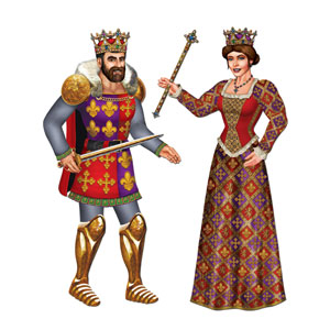 Royal King and Queen Cutouts - 3ft