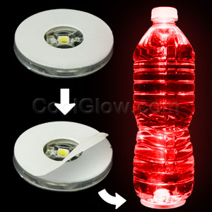 LED Motion Activated Bottle Illuminator - Red