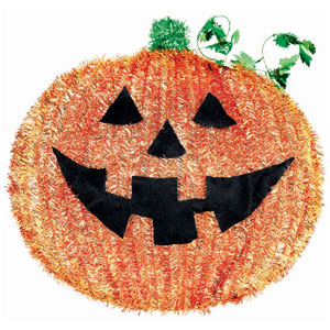 Pumpkin Tinsel Decoration- 18in