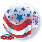 Patriotic Bubble Balloon - 22 Inch