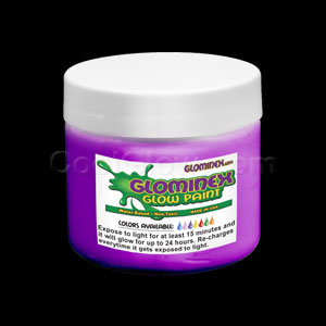 Glominex Glow Paint 8 oz Jar - Purple