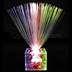 Fun Central AC693 LED Light Up 5.5 Inch Fiber Optic Centerpiece - Multicolor