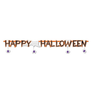 Happy Halloween Spider Banner - 6ft