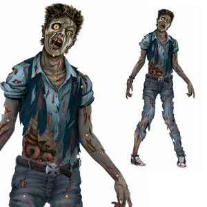 Zombie Jointed Cutout- 72in