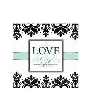 Always and Forever Luncheon Napkins- 16ct