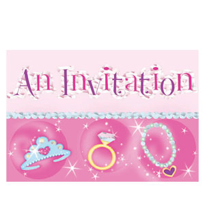 Prismatic Princess Invitations- 8ct