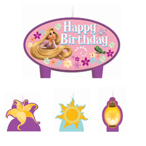Disney Tangled Mini Molded Candles- 4ct