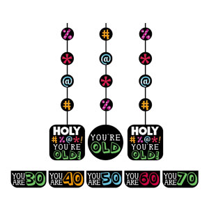Holy Bleep Hanging Cutouts - 3ct