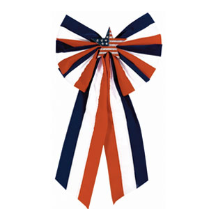 Velvet Flag Bow with Star- 23in
