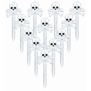 Skull and Bones Party Picks- 12ct