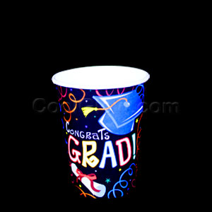 Grad Diploma 9 oz. Cups- 8ct