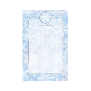 White Christmas Printable Invitations - 12ct