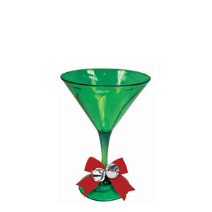 Martini Glass with Embellishments- 10oz.