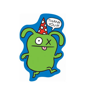 Ugly Doll Thank You Cards- 8ct