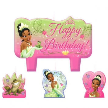 Disney Tiana Birthday Candle Cake Set