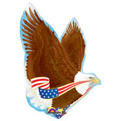 Patriotic Eagle Metallic Balloon - 31 Inch
