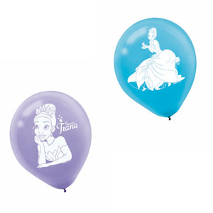 Disney Princess and The Frog Printed Latex Balloons- 6ct