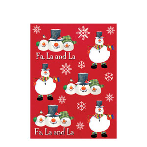 Snowman Carols Stickers