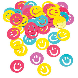 Tie Dye Fun Smiley Face Confetti