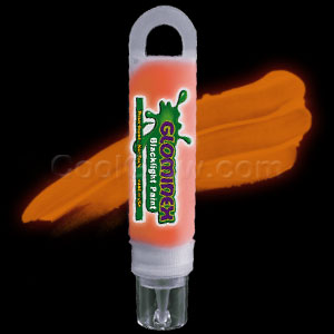 Glominex Blacklight UV Reactive Paint 1 oz Tube - Orange