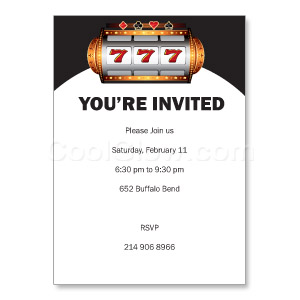 Slot Machine - Custom Invitations