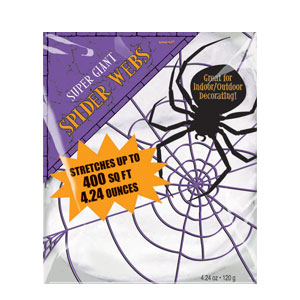 White Stretchable Spider Web 4.24 oz