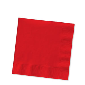 Cherry Red Luncheon Napkins - 16ct
