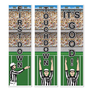 Football Cutouts- 3ct