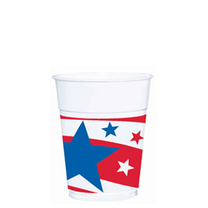 Patriotic 14 oz. Plastic Cup - 50ct