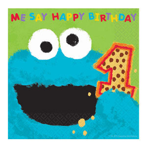 Cookie Monster Luncheon Napkins - 36ct