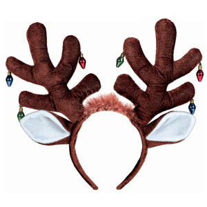 Antlers Headband with Bulb Earrings- 17 Inch