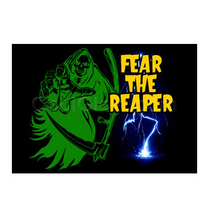LED Sound Activated Patch - Fear the Grim Reaper