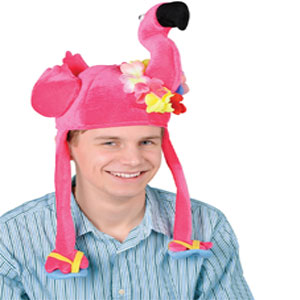 Plush Flamingo Hat