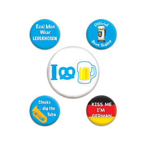 Oktoberfest Party Buttons - 5ct