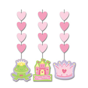 Fairytale Princess Dangling Cutouts- 3ct