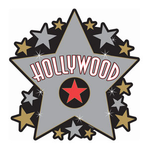 Hollywood Star Cutout- 15in